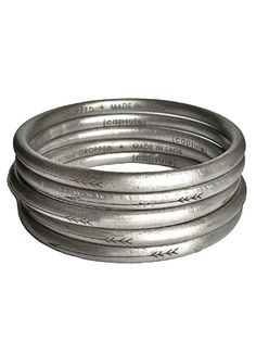 These bangles are made from recycled bombs in Laos, pretty cool charity and fashion combo.