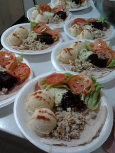 Cold Plates (Potato Salad, Dressing, Tomato, Lettuce, Gel Salad, Turkey, Ham, Coleslaw)