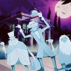 Haunted Mansion Hitchhiking Ghosts Printable for #Halloween (http://di.sn/h4p)
