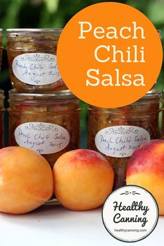 Peach Salsa. This is a sweet, spicy salsa. Only 11 calories per 2 tablespoons. Sugar and salt free, too!