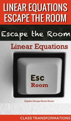 Practice linear equations with this escape room! Students find slopes & y-intercepts to solve the mystery and escape the room! Math Teacher, Math Classroom, Teaching Math, Math 8, Teaching Ideas, Teacher Tips, Teacher Stuff, Algebra Activities, Math Resources