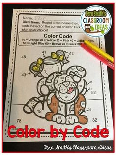 This 3rd Grade Go Math 1.2 Round to the Nearest Ten or Hundred Color By Number Resource includes 5 student pages for introducing or reviewing Round to the Nearest Ten or Hundred and 5 answer keys. You will love the no prep, print and go ease of these Round to the Nearest Ten or Hundred printables. Rounding is an essential skill to master in third grade. Students need to be able to understand rounding whole numbers to the nearest 10 or 100 as a stepping stone for many third grade math skills…