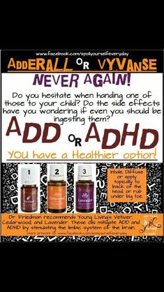 Young Living Essential Oils for ADD & ADHD.