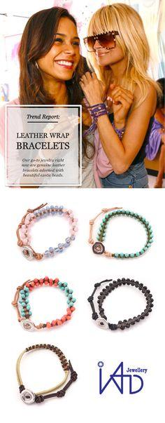 Trend Report: LEATHER WRAP BRACELETS #jewelry #iad #jewellery #leather #gift #bracelet