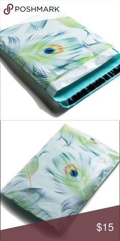 100 Pack 🍃 Peacock Poly Mailer 10x13 💗100 Pack Peacock poly mailer 10x13 💗.                            •Unsurpassed Water & Tear Resistance  •Pressure sensitive self seal with Anti Static Release Liner  •Light Weight & Time Saving  100% recyclable   💜💙💜💗🍃.                                      ⚠️Price firm unless bundle⚠️ Bags