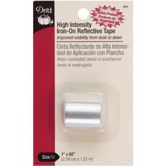 Dritz 651 Reflective Tape, Gray, 1 in x 60in Dritz http://www.amazon.com/dp/B001B9I1KA/ref=cm_sw_r_pi_dp_ebF3tb1PDB55WF03