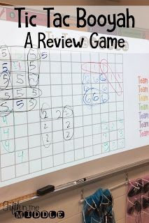 Tic Tac Booyah - The classroom - Education Math Teacher, Math Classroom, Teaching Math, Teaching Ideas, Classroom Ideas, History Classroom, Teaching Activities, Teaching Strategies, Classroom Organization