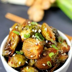 Glazed Brussels Sprouts Recipe Side Dishes with fresh brussels sprouts ...