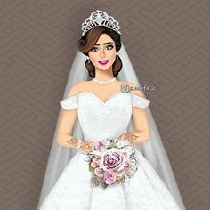 Image may contain: 1 person Wedding Dress Illustrations, Wedding Dress Sketches, Wedding Dresses, Wedding Pillars, Mother Daughter Art, Wedding Ring Photography, Butterfly Clip Art, Girly M, Arab Wedding