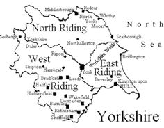 The Ridings. Sadly the 'Ridings' of Yorkshire don't exist anymore. They ditched them and replaced them with Yorkshire. The romance was lost. Yorkshire Map, Yorkshire Dales, Yorkshire England, North Yorkshire, Yorkshire Sayings, Cornwall England, Danish Words, Kingston Upon Hull, Barnsley