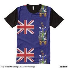Flag of South Georgia All-Over Print T-Shirt