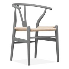 Hans J Wegner Wishbone Chair - Grey