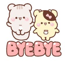 Cute Bunny Cartoon, Sweet House, Line Sticker, Brush Lettering, Bye Bye, Cat Memes, Ideas Para, Party Time, Custom Stickers