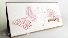 Geburtstagskarte Schmetterling, buterfly, Stampin Up 2016, crehand, Videoanleitung