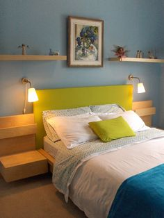 9 799721 » IKEA Malm Headboard Hack: heightened and upholstered post photo