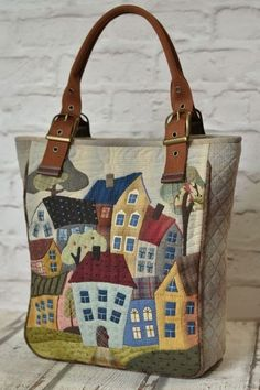 Bolsos de mujer hechos a mano. # Bolsos de mujer A MANO . Patchwork Bags, Quilted Bag, Bag Quilt, Japanese Bag, Diy Sac, Denim Bag, Fabric Bags, Handmade Bags, Handmade Bracelets