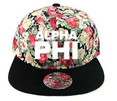 Alpha Phi floral snap back // College Hill Custom Threads sorority and fraternity greek apparel and products! | @ch_threads |