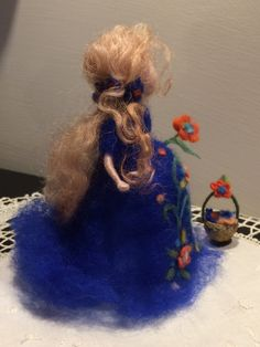 Ser madre aguja de fieltro muñeca waldorf inspirado muñecas