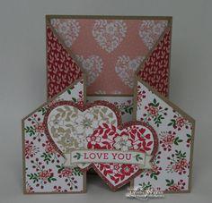 LW Designs: Bloomin' Love Fancy Fold Valentine