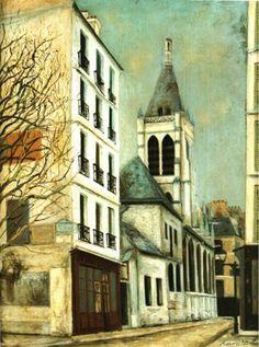 モーリス・ユトリロ「パリのサン・セヴラン教会」