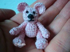 Free Basic Crochet Thread Bear Pattern with video tutorial by Amigurumi To Go