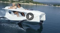 A Boat From The Future - Quadrofoil Hydrofoil Electric Watercraft Q2 - Quadrofoil, created by three young Slovenian designers, is an electric hydrofoiling personal w