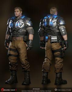 ArtStation - Gears of War 4: JD Fenix, Daniel Bohrer do Nascimento