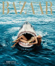 coverjunkie: Jaws and also Rihanna star this new subscribers cover US Harper's Bazaar. Photo Norman Jean Roy. Stylist @Melzy917