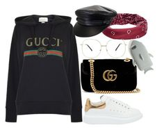 """""""Untitled #386"""" by laurentighe ❤ liked on Polyvore featuring Alexander McQueen, Gucci, Forever 21, Mudd and STELLA McCARTNEY"""