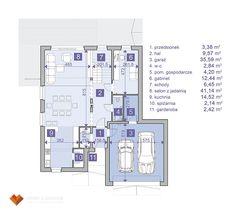 JACHTOMA 4 - Domy z Sercem - gotowe projekty domów jednorodzinnych. Rzut parteru. House plan