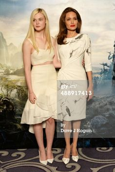 News Photo : Elle Fanning and Angelina Jolie attend a...