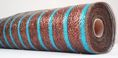 BROWN AND TURQUOISE DECO MESH 21 INCH http://www.ebay.com/itm/BROWN-MESH-LASER-TURQUOISE-Deco-Mesh-Floral-Ribbon-21-x30ft-/251662521294?pt=Ribbons_Bows&hash=item3a984153ce