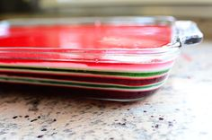 """The Pioneer Woman's """"Finger Jello."""" My  great-grandmother, Helen, used to make this for every Christmas. Now her sister does... and its always wonderful :D"""