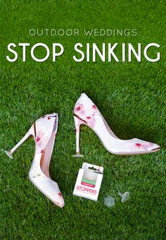 Stops heels from sinking at outdoor weddings