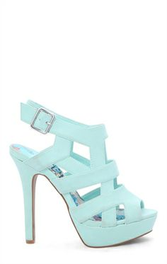 Open Toe Platform Bootie with Cutouts