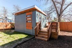 A 200 square feet cabin designed by Kanga Room Systems in Austin, Texas.