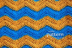 Crochet Chevron Infinity Scarf - Pattern