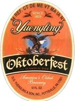 Yuengling Oktoberfest    America's Oldest Brewery is proud to offer Yuengling Oktoberfest Beer. Copper in color, this medium bodied beer is the perfect blend of roasted malts with just the right amount of hops to capture a true representation of the style. Enjoy a Yuengling Oktoberfest Beer in celebration of the season, while supplies last!          www.yuengling.com