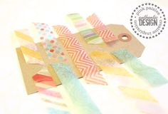 """Using scrapbooking paper to make your own """"washi tape"""".  Easy as to make as you need it instead of storing heaps of tape you will never use!"""