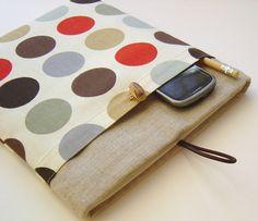 iPad Cover iPad 2 iPad 3 with Pockets - Retro Print Tecno Dot Linen. $28.50, via Etsy.