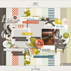 Nosh | Digital Scrapbooking Kit | One Little Bird