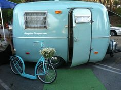 """Ladies and Gentlemen we present to you the """"Sage Coach!"""" Our newest member to the Happier Camper family is a vintage 1976 Scamp completely restored to its original beauty. Sage (light green) paint on..."""