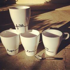 Hand-painted Ikea mugs