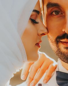 Nikkah first, babe! *reply my email please. Wedding Couple Poses Photography, Wedding Poses, Wedding Photoshoot, Wedding Couples, Cute Muslim Couples, Romantic Couples, Cute Couples, Muslimah Wedding Dress, Muslim Wedding Dresses