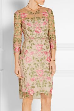 Marchesa Notte | Embroidered tulle dress | NET-A-PORTER.COM