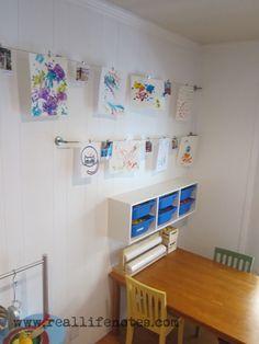 Kids Art Display IKEA Hack. #ikea #hack