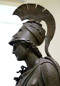 Detail of The Piraeus Athena, an Ancient Greek bronze statue of the goddess dated to 340-330 BCE. Source: AncientRome.ru. Ancient Greek Sculpture, Ancient Greek Art, Ancient Greece, Ancient History, Bronze Sculpture, Sculpture Art, Statues, Greek Mythology Tattoos, Art Antique