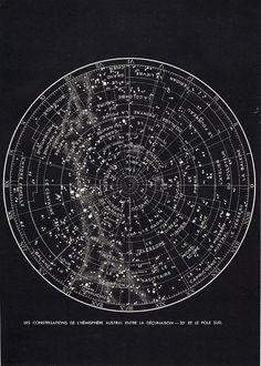 vintage star chart