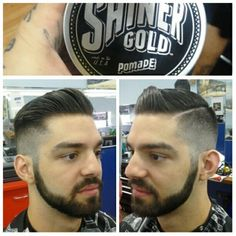 High and tight pomp w/part, @shinergoldpomade loving this stuff. Hair sets fast!  #part #pomp #highandtight #nyanddade #fade #miamibarber #miamibarbershop #305 #haircut #haircutsinmiami #shinergoldpomade