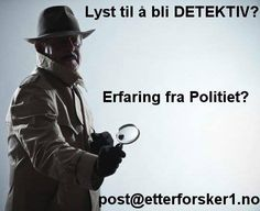Vi i Etterforsker1 AS er spesialister på privatetterforskning, og med moderne teknologi kan vi tilby en av Norges beste etterforskningstjenester, både til privatpersoner og til næringslivet. Vi har eksperter innenfor de fleste fagfelt, fra barnefordelig og utroskap til kriminalssaker og svindel.